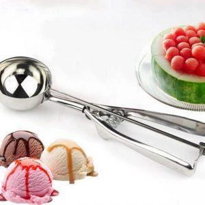 Ice Cream Scoop Stainless Steel Cookie Dough Scooper For Fruit