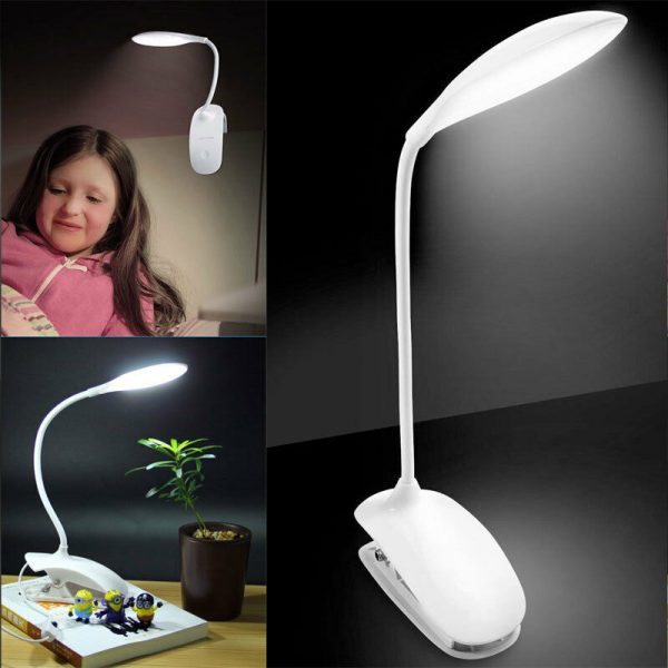 LED Clamp Touch Table Lamp White