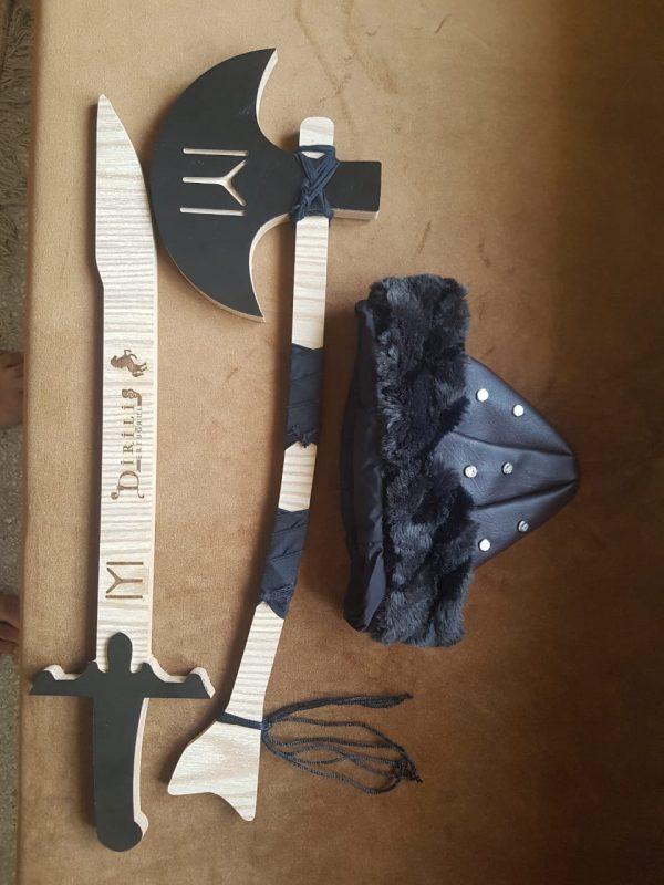 Ertugrul Sword,Cap & Turgut Axe Set of 3