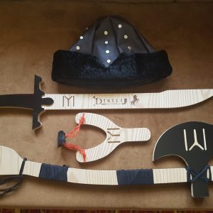 Ertugrul Sword,Cap & Turgut Axe & Bow Set of 4