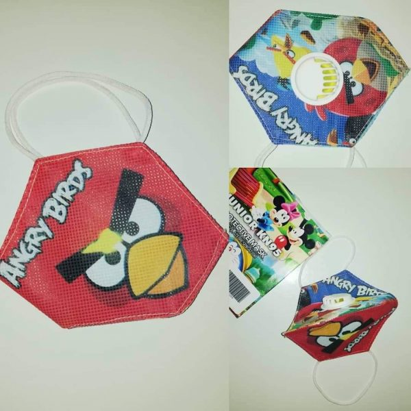Kids Filter Mask Angry Birds