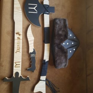 Ertugrul Sword,Cap,Dagger & Turgut Axe Set of 4