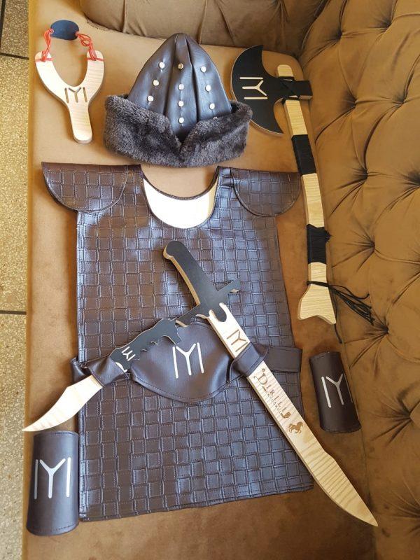 Ertugrul Sword,Cap & Turgut Axe & Bow,Dagger,Suite Set of 6